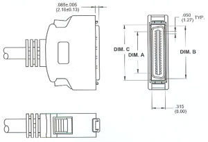 male HIGH DENSITY CONNECTOR